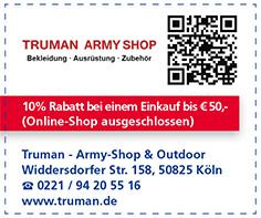Gutschein Truman - Army-Shop & Outdoor